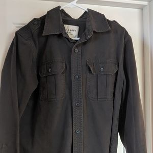 Old Navy long sleeve twill button up